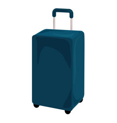 blue travel bag icon cartoon style vector image