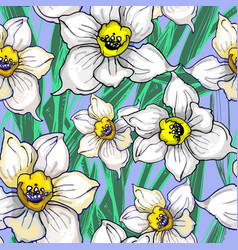 botanical seamless pattern with inflorescences of vector image