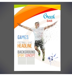 Brazil Soccer Poster Template vector