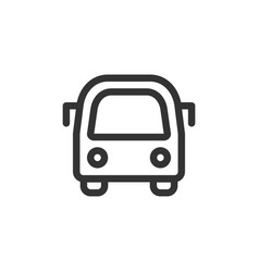 city bus front view outline style icon vector image