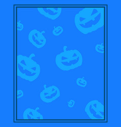 Collection frame halloween theme style vector