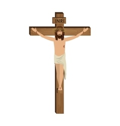 Crucifixion of jesus christ vector