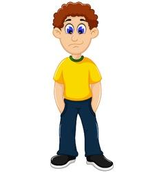 cute man cartoon standing vector image