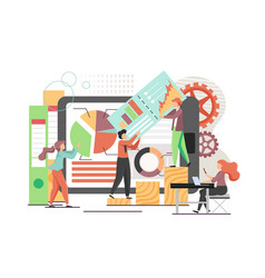 data analysts flat style design vector image