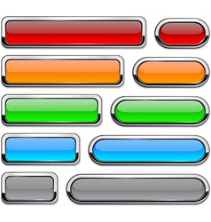 detailed buttons on white vector image