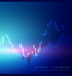 Digital candle stick graph design for stock market vector