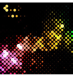 disco light dots pattern vector image