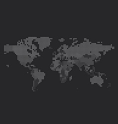 Dotted world map square dots vector