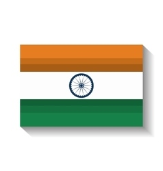 flag welcome india country design vector image