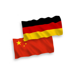 flags of germany and china on a white background vector image