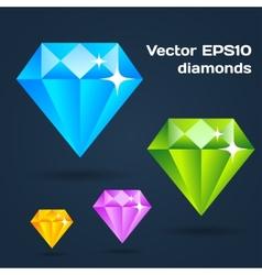 Flat diamonds vector
