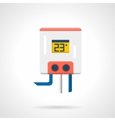 Flat style heating appliance icon vector