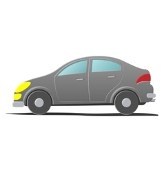 Hatchback car Cartoon vector image