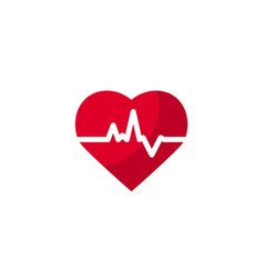 heart beat concept in flat style vector image