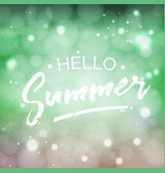 hello summer lettering design element vector image