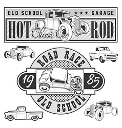 Hot rod set vector