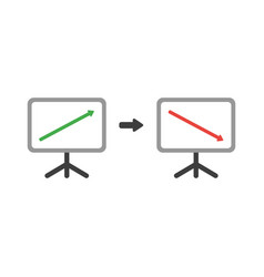 icon concept of sales chart arrow moving up and vector image