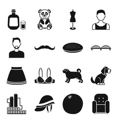 Industry style animal and other web icon in vector
