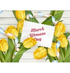 International womans day EPS 10 vector image vector image