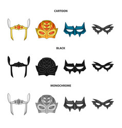 Isolated object of hero and mask icon set of hero vector