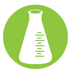 Isolated white erlenmeyer vector