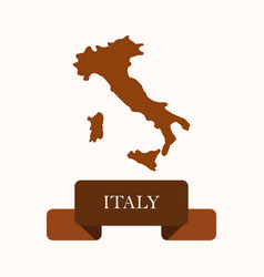 italy map vector image