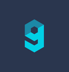 letter g number 9 technology logo icon design vector image