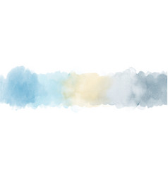 light blue and gray gradient painted watercolor vector image
