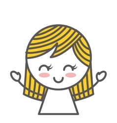 little girl drawing icon vector image