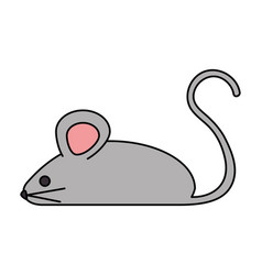 Little mouse isolated icon vector