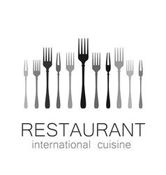 Lovely food logo template vector