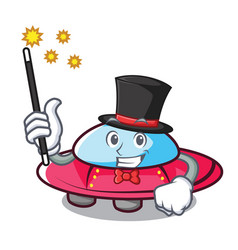 Magician ufo mascot cartoon style vector