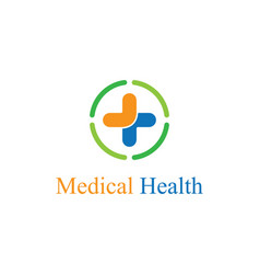 medical logo template vector image