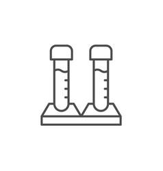 medical test line outline icon vector image
