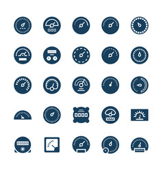meter icons in flat style vector image