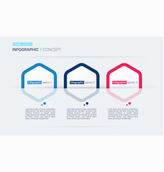 modern infographic concept template three vector image