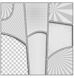 monochrome comic composition vector image