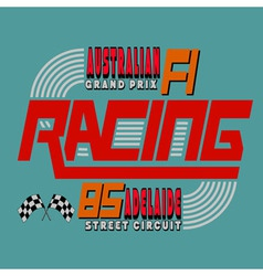 Racing Car Typography T-shirt Graphics Design vector