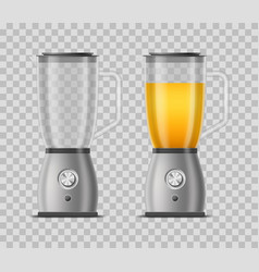 realistic 3d detailed juicer blender set vector image