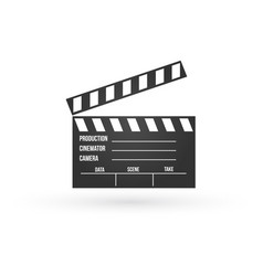 realistic of open movie clapperboard or clapper vector image