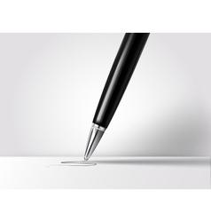 Realistic pen vector image