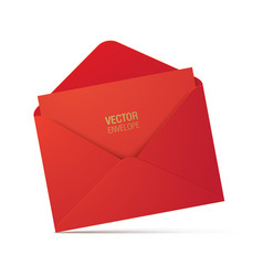 red envelope isolated on background vector image