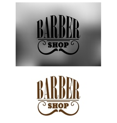 Retro barber shop emblem with mustache vector image vector image