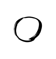 rough hand drawn circle black isolated vector image