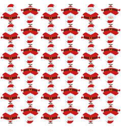 seamless pattern with funny santa claus vector image