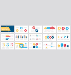 Set yellow blue and red elements vector