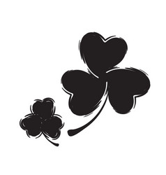 shamrock icon for st patrick day vector image