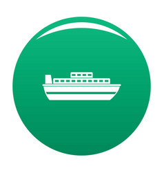 ship travel cruise icon green vector image
