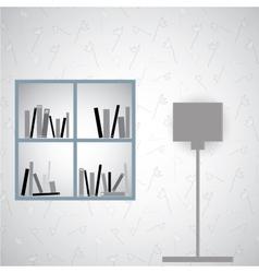 Simple book shelf vector