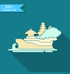 Tanakh lot the temple on bali indonesia vector